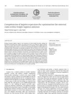 Competencies of logistics operators for optimisation the external costs within freight logistics solution